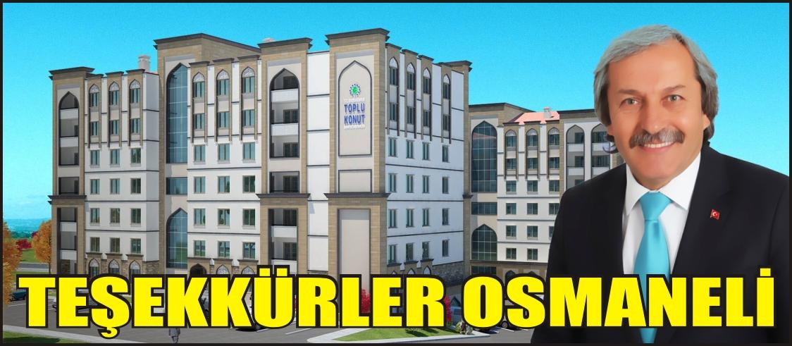 TEŞEKKÜRLER OSMANELİ