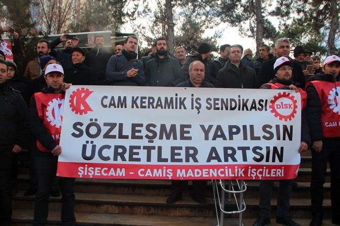 BİLECİK'TE İŞÇİ EYLEMLERİ ARTIYOR