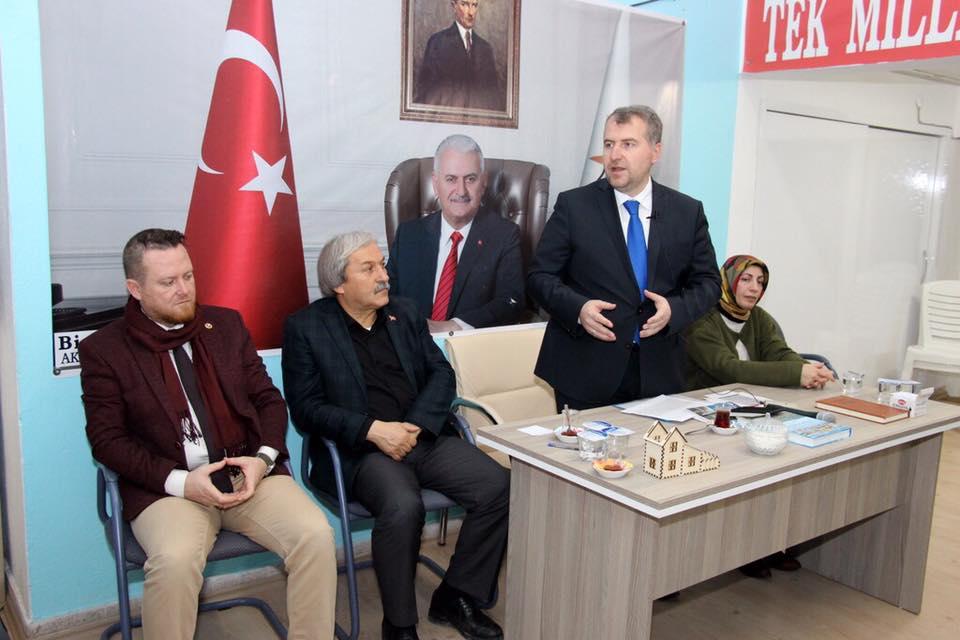 OSMANELİ'DE İSTİŞARE TOPLANTISINA KATILDI