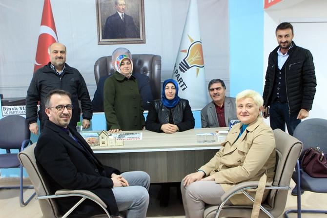 BAŞHEKİM DR. ÖZYAŞAR'DAN AK PARTİ İLÇE BAŞKANLIĞINA ZİYARET
