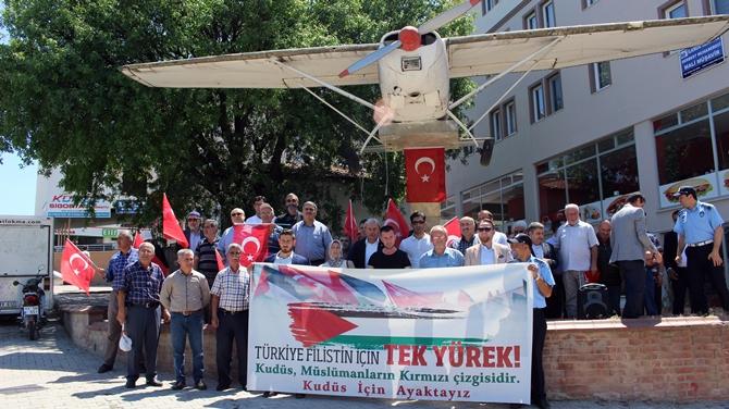 OSMANELİ'DE İSRAİL PROTESTOSU