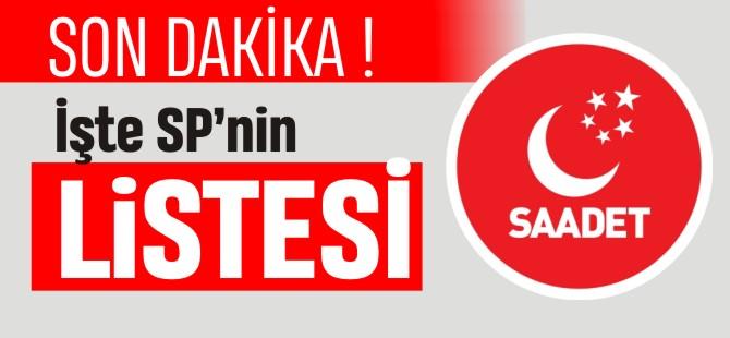 SP'NİN MECLİS LİSTELERİ