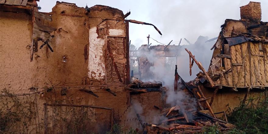 Balçıkhisar Köyü'nde yangın