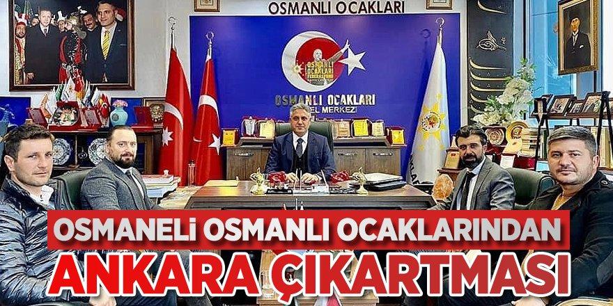 Osmaneli Osmanlı Ocakları'ndan Ankara çıkartması