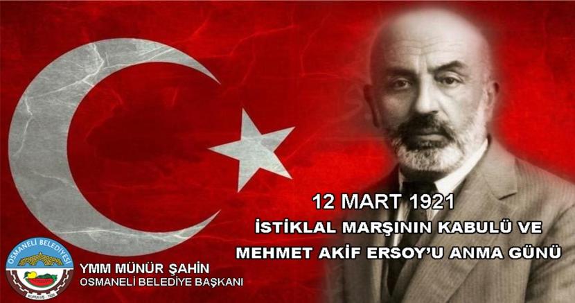 Osmaneli Belediyesi - İstiklal Marşı'nın Kabulü