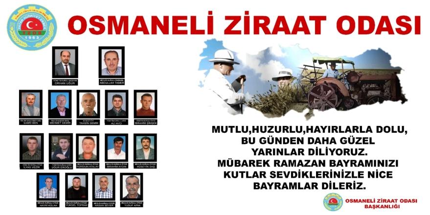 Osmaneli Ziraat Odası'ndan Bayram Kutlama Mesajı