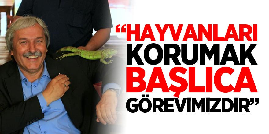 """""""HAYVANLARI KORUMAK BAŞLICA GÖREVİMİZDİR"""""""