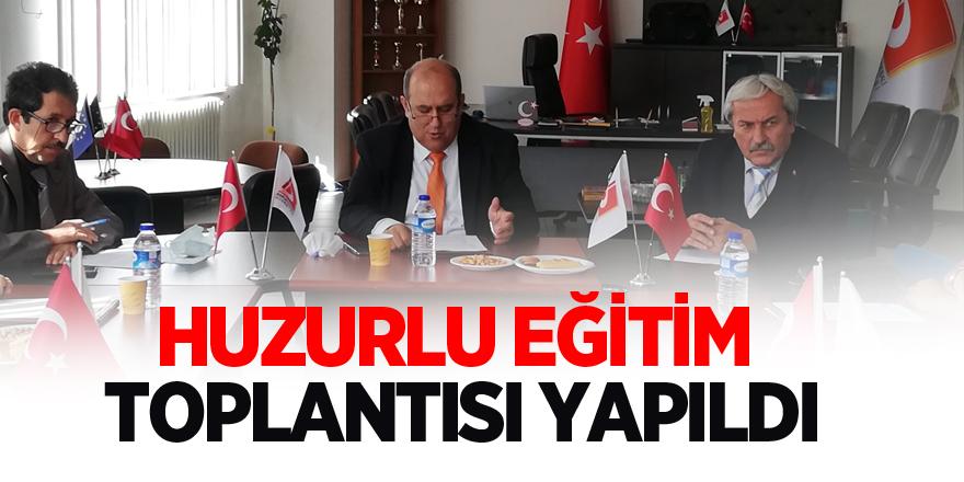 OSMANELİ'DE HUZURLU EĞİTİM TOPLANTISI YAPILDI