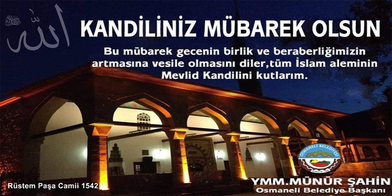 Kandiliniz Mübarek Olsun | Münür Şahin Osmaneli Belediye Başkanı
