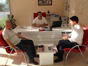 Karaca ve Yılmaz'dan gazetemize ziyaret